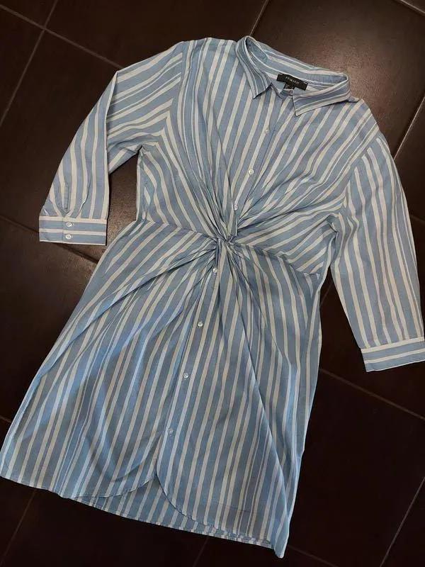 Платье рубашка миди в полоску Primark коттон