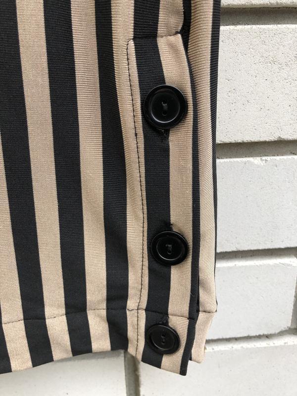 Полосатые широкие брюки кюлоты zara - Фото 9