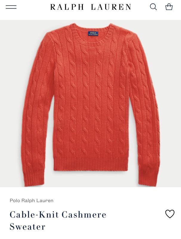 Оригінальний светрик Polo Ralph Lauren - Фото 2
