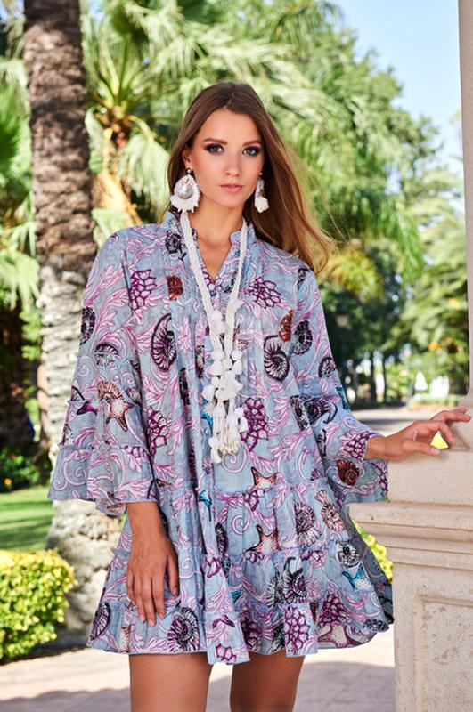 Новинка красивое летнее платье с ракушками  код 2324