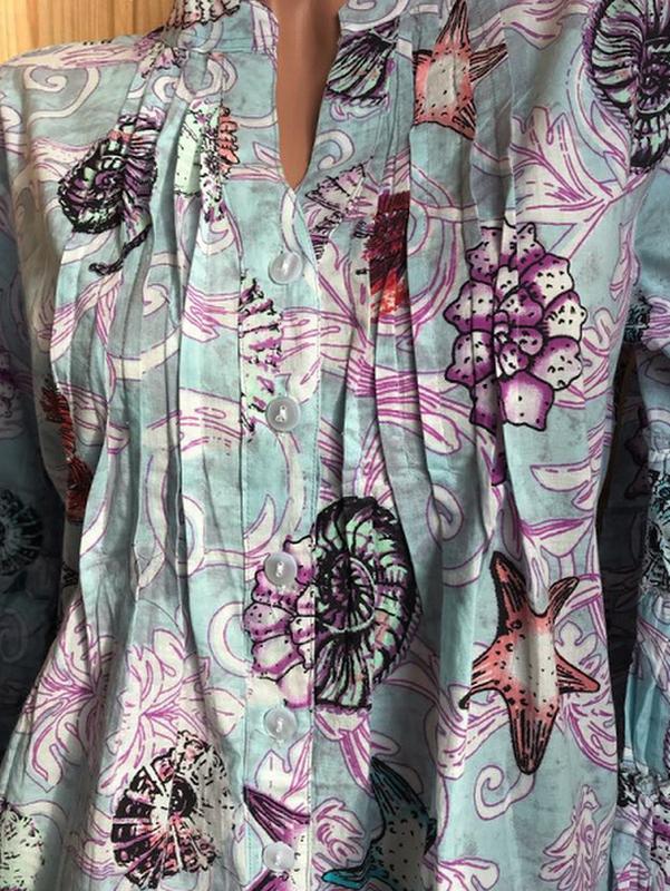 Новинка красивое летнее платье с ракушками  код 2324 - Фото 6
