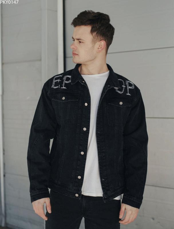 Джинсовая куртка staff black piece - Фото 3