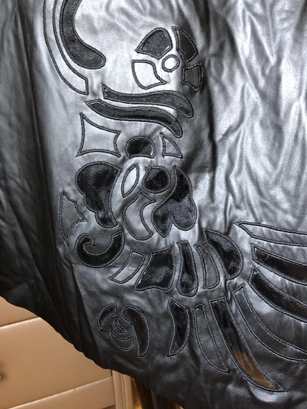 Юбка кож зам очень нарядная и красивая , размер м - Фото 4