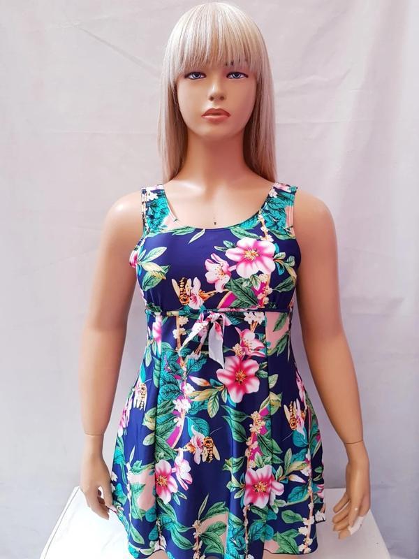 Купальник платье слитный besea fairy 67133 грейс(есть 50 52 54... - Фото 2