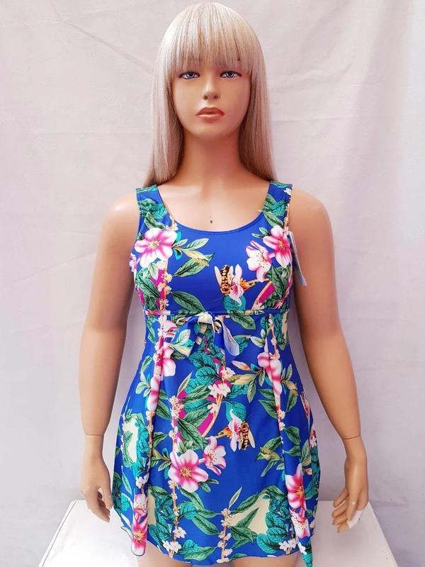 Купальник платье слитный besea fairy 67133 грейс(есть 50 52 54... - Фото 5