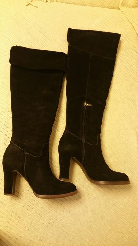 Geox,сапоги замшевые,размер 40, черные