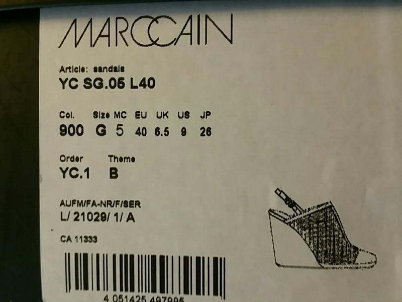 Marccain, босоножки, черные,размер 40 - Фото 5