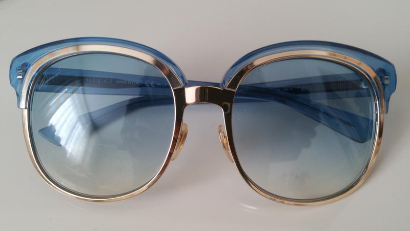Gucci, очки голубого цвета