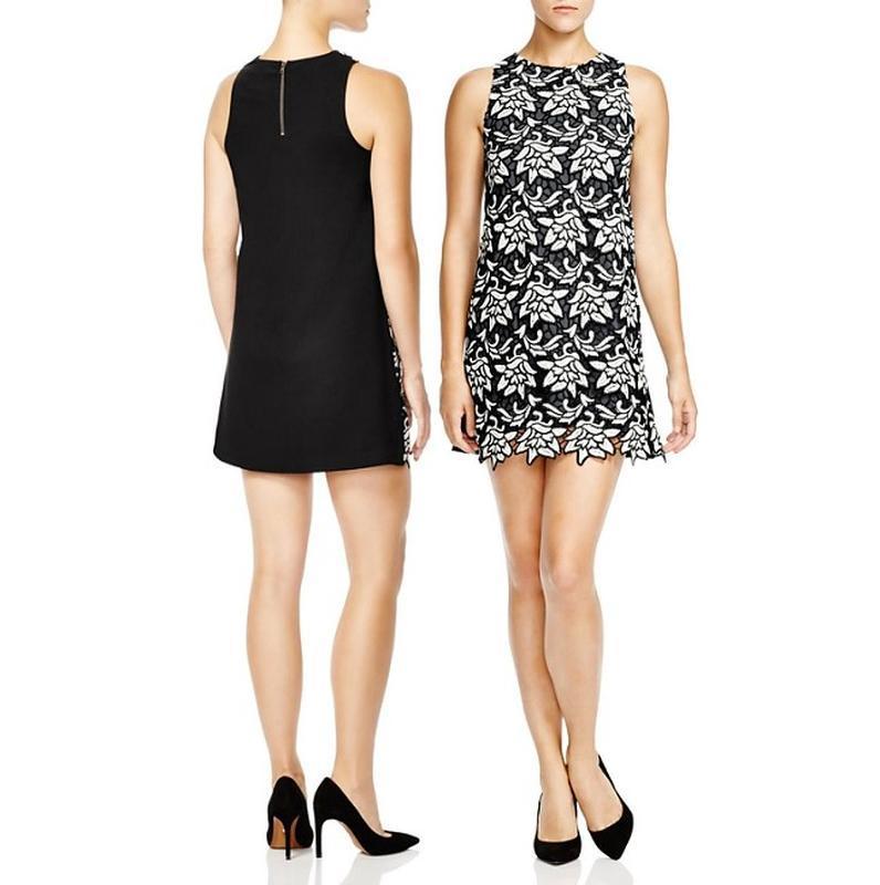 """Эффектное платье b&w """"shifn"""" весь перед - вышивка """"ришелье"""" (m)"""