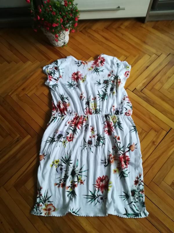 Летнее, яркое, хлопковое платье большого размера - Фото 2