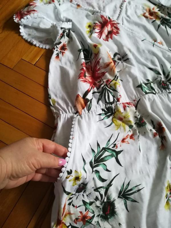Летнее, яркое, хлопковое платье большого размера - Фото 5