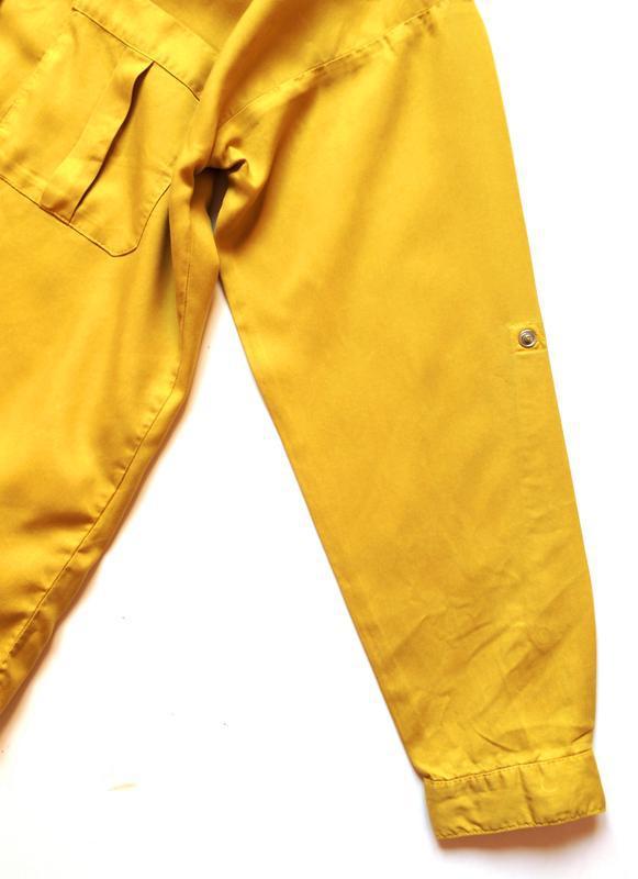 Zara джинсовая рубашка с v-образным вырезом - Фото 8