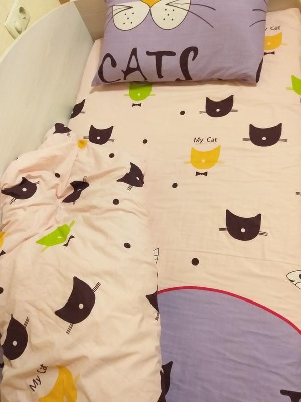 Полуторный комплект котята, качественное постельное белье