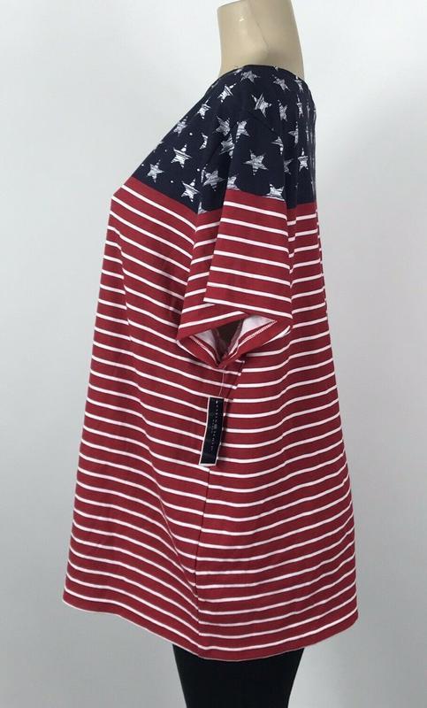 Футболка  топ  american flag с металлическими стразиками, бата... - Фото 5
