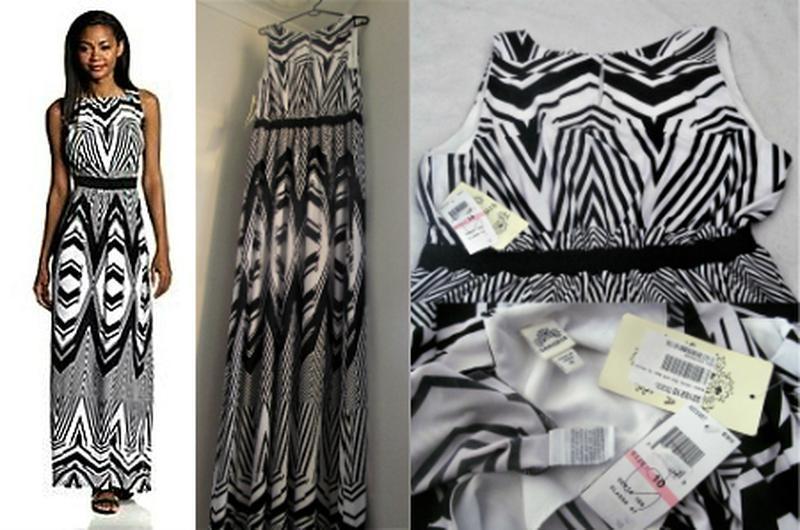 Брендовое платье b&w  макси с трансцендентальным принтом и кон... - Фото 4