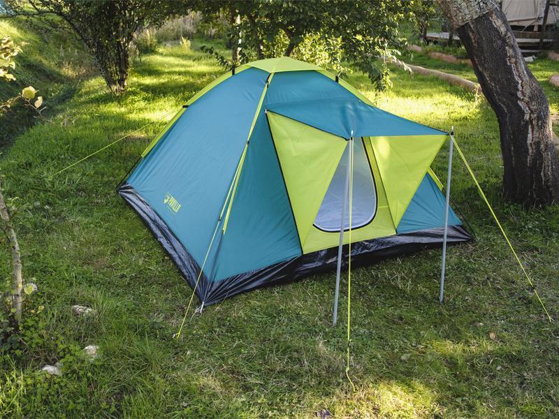 Летняя туристическая 3-х местная походная палатка