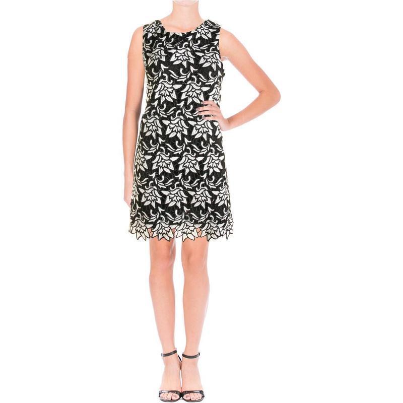 """Коктейльное платье shift b&w с контрастной вышивкой """"ришелье"""" ..."""