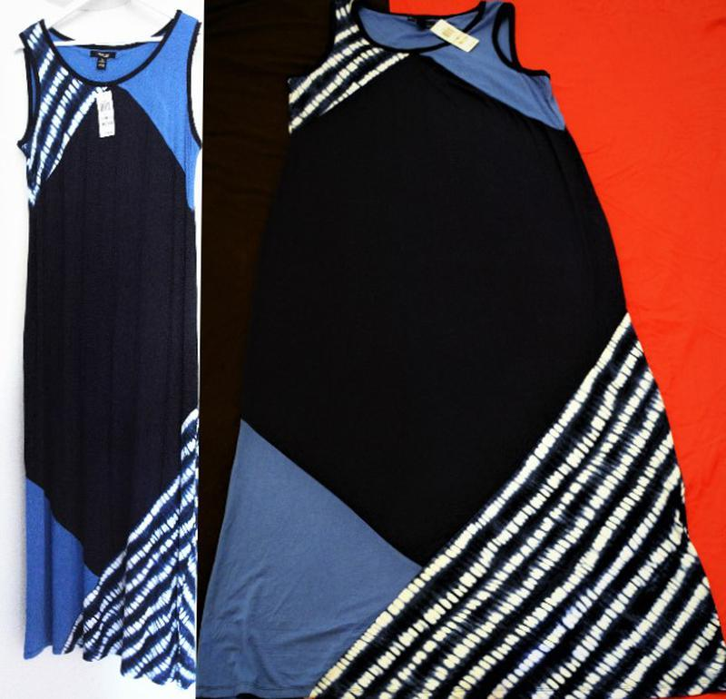 Платье комбинированное style & co макси длиной, plus 1х usa пр... - Фото 3