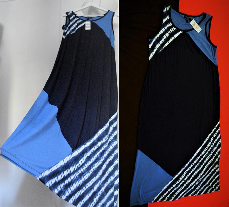 Платье комбинированное style & co макси длиной, plus 1х usa пр... - Фото 4