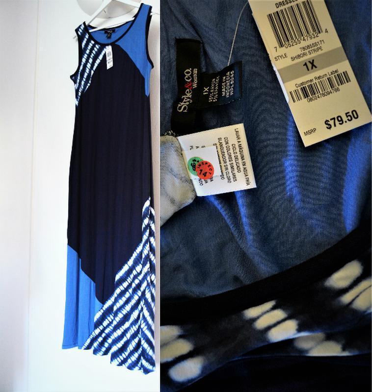 Платье комбинированное style & co макси длиной, plus 1х usa пр... - Фото 5