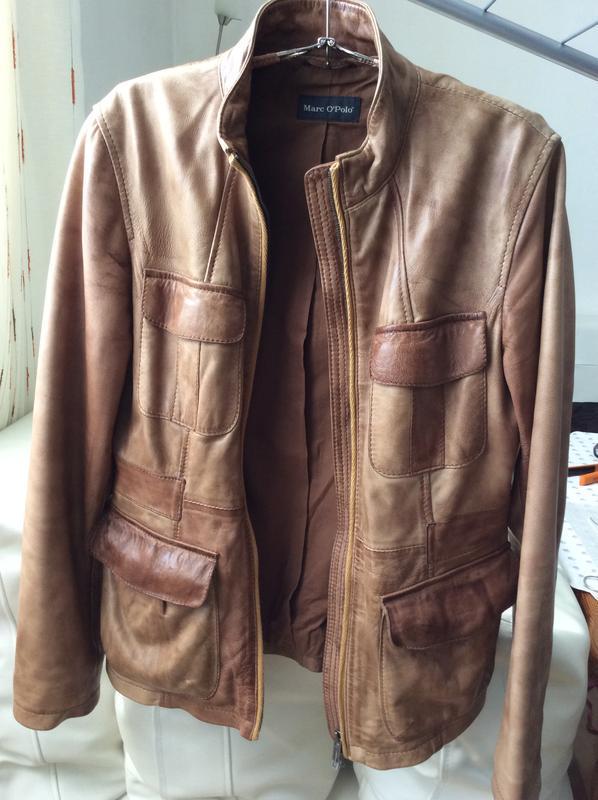 Кожаная куртка пиджак жакет marc o'polo