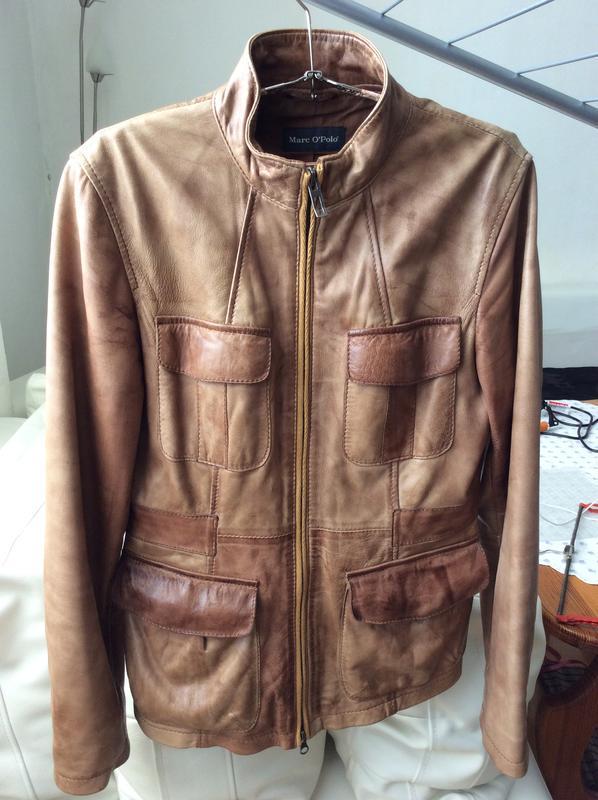 Кожаная куртка пиджак жакет marc o'polo - Фото 2