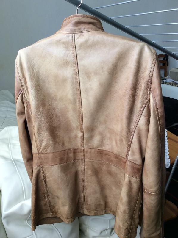Кожаная куртка пиджак жакет marc o'polo - Фото 3
