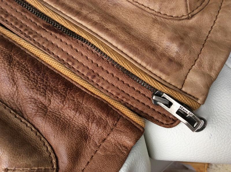 Кожаная куртка пиджак жакет marc o'polo - Фото 4