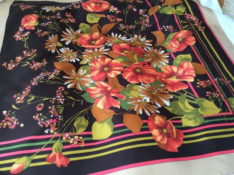 Винтажный платок, boselli италия - Фото 2