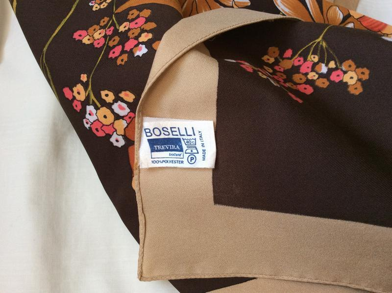 Винтажный платок, boselli италия - Фото 4