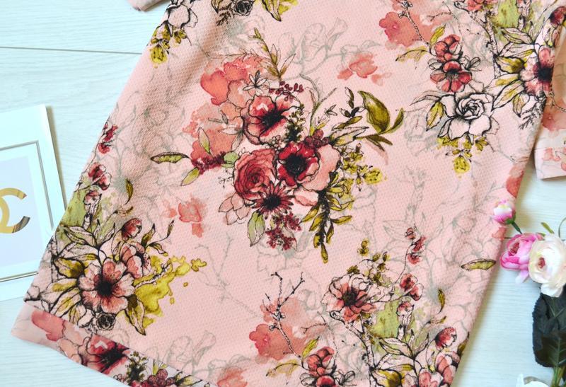 Красива пудрова блуза в квіти next - Фото 3