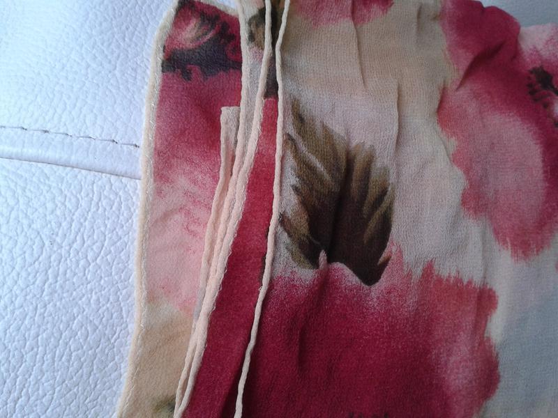 Шелковый шарф в маки от anne klein - Фото 2