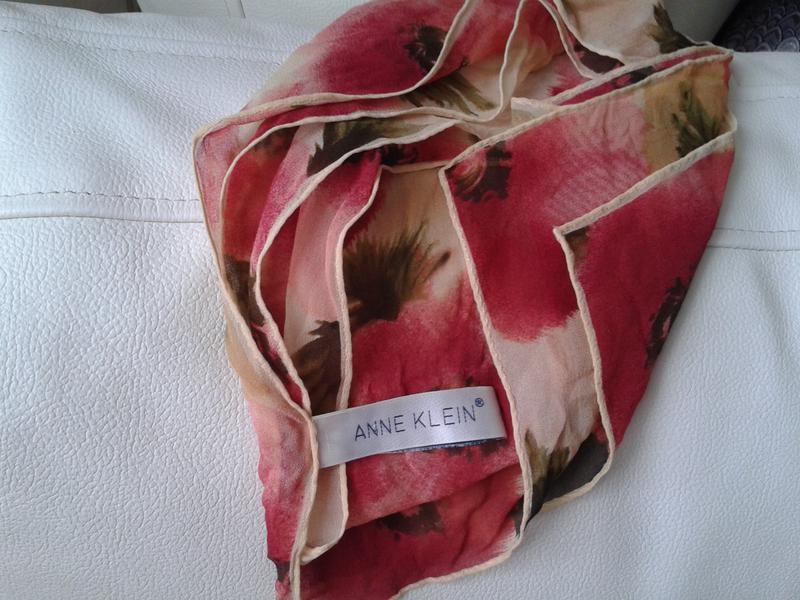 Шелковый шарф в маки от anne klein - Фото 3