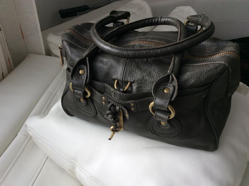Распродажа!кожаная сумка mango - Фото 2