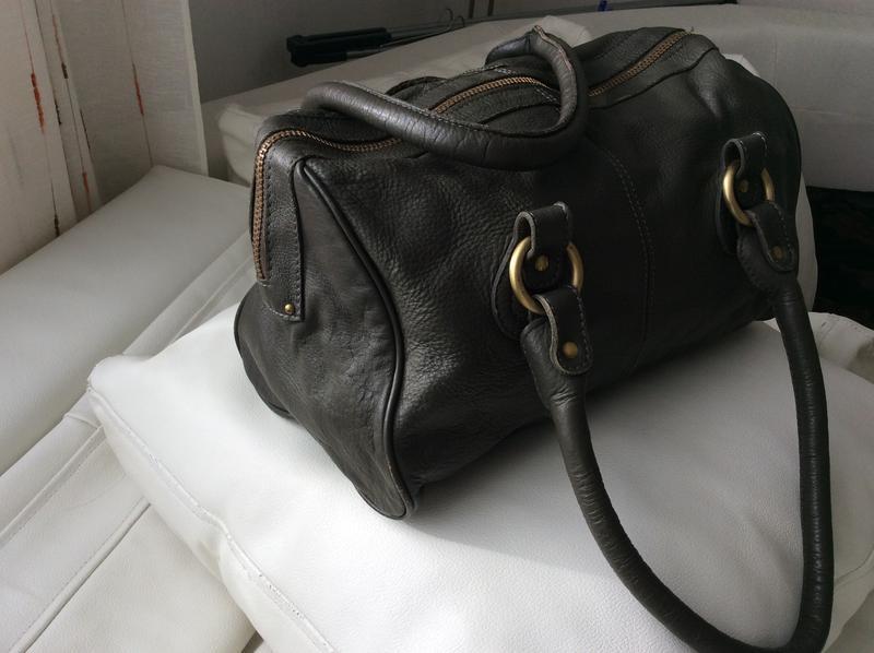 Распродажа!кожаная сумка mango - Фото 3