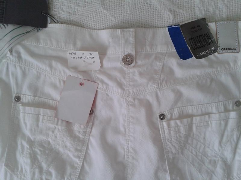 Легкие летние штаны капри gardeur - Фото 3