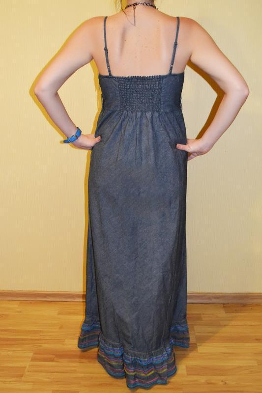 Длинное платье, сарафан в пол tommy hilfiger - Фото 2
