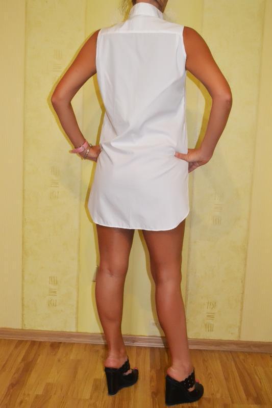 Белое платье – туника в форме рубашки gucci - Фото 2