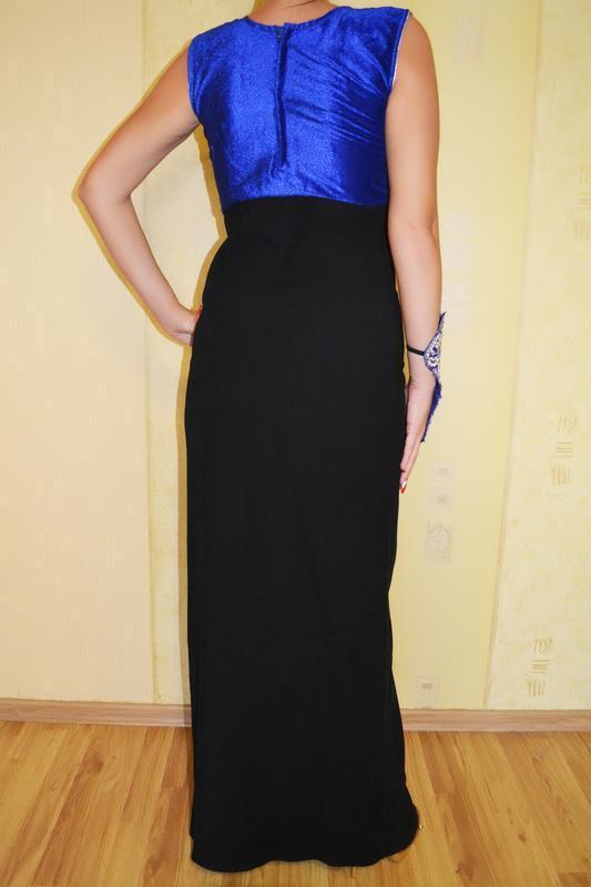Роскошное вечернее, нарядное платье на новый год с вышивкой - Фото 5