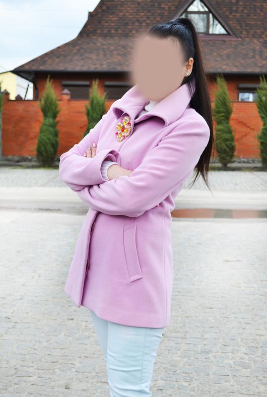 Нежно розовое пальто morgan  размер м-l