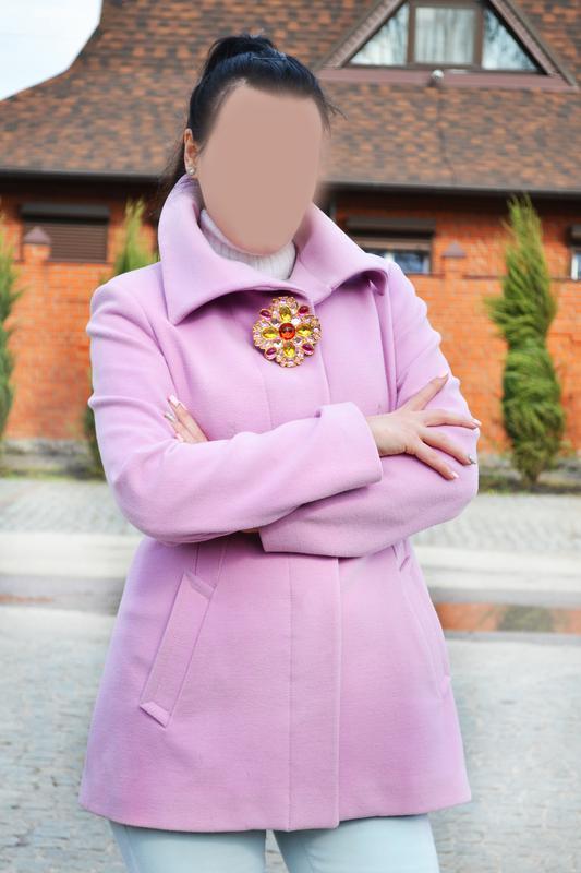 Нежно розовое пальто morgan  размер м-l - Фото 4