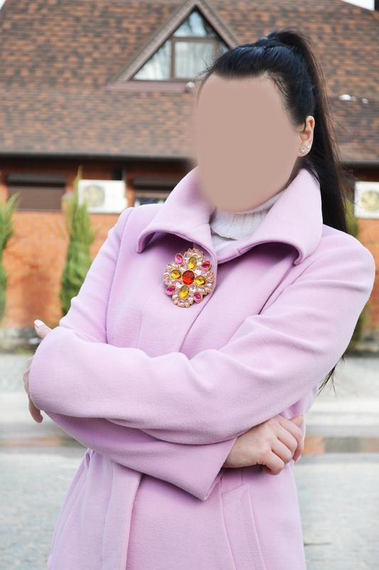 Нежно розовое пальто morgan  размер м-l - Фото 5