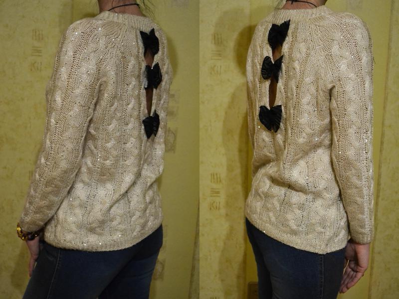 Красивый свитер, кофта с бантиками - Фото 5