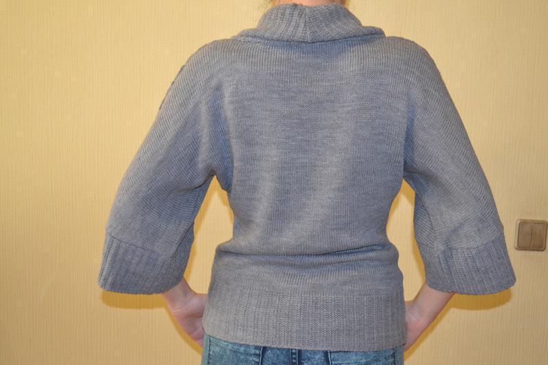 Серая кофта, свитер zara зара - Фото 2