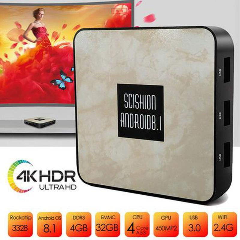Тв приставка андроид SCISHION RX4B 4+32ГБ (Tv box X96 M8S xiao...