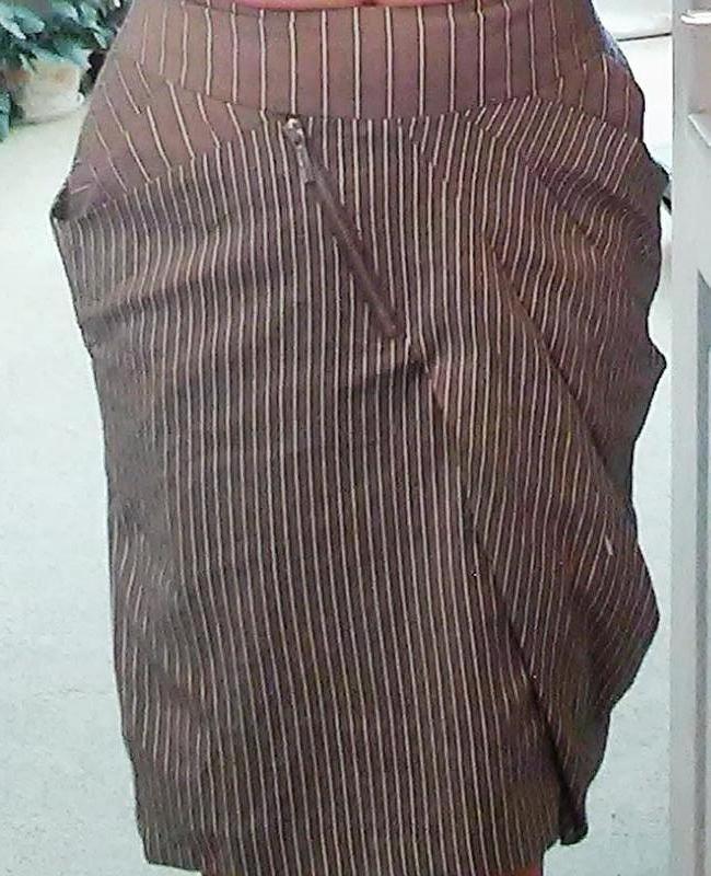 Необычная юбка с драпировкой, размер 34-36
