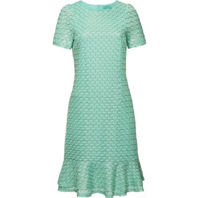 Ажурное платье, цвет ментоловый