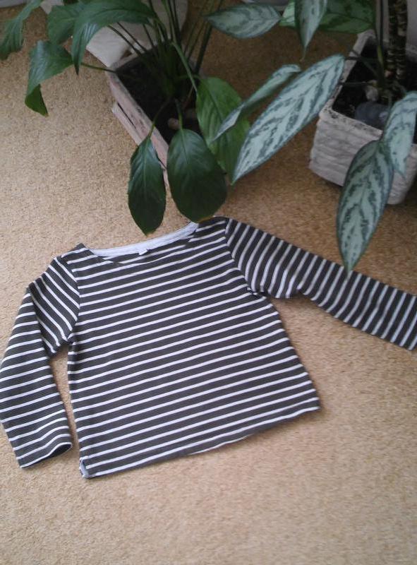 Полосатая футболка с длинным рукавом