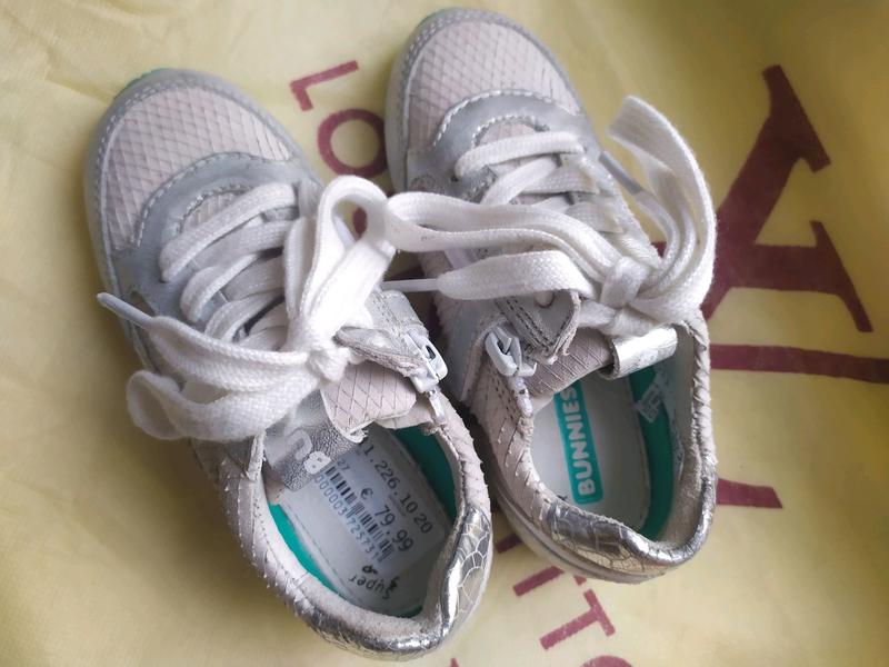 Детские кожаные кроссовки Bunnies - Фото 3