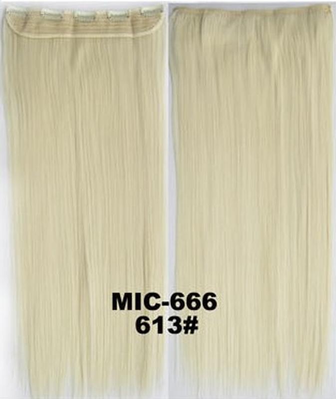 11-20 волосы трессы цвет блонд №613 затылочная прядь на заколк...